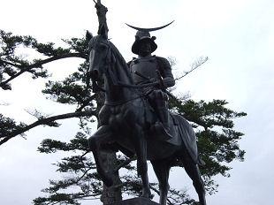 青葉城・正宗公銅像
