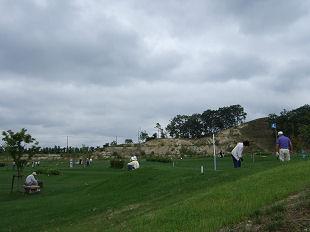 パークゴルフ場に出た!